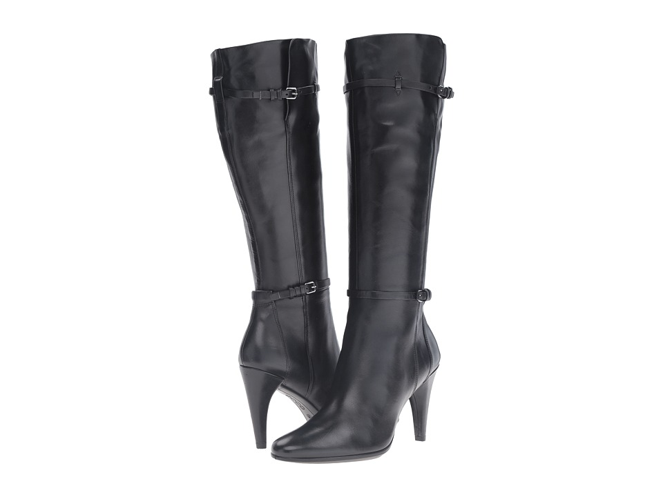 ECCO Shape 75 Sleek Tall Boot (Black Cow Leather) Women
