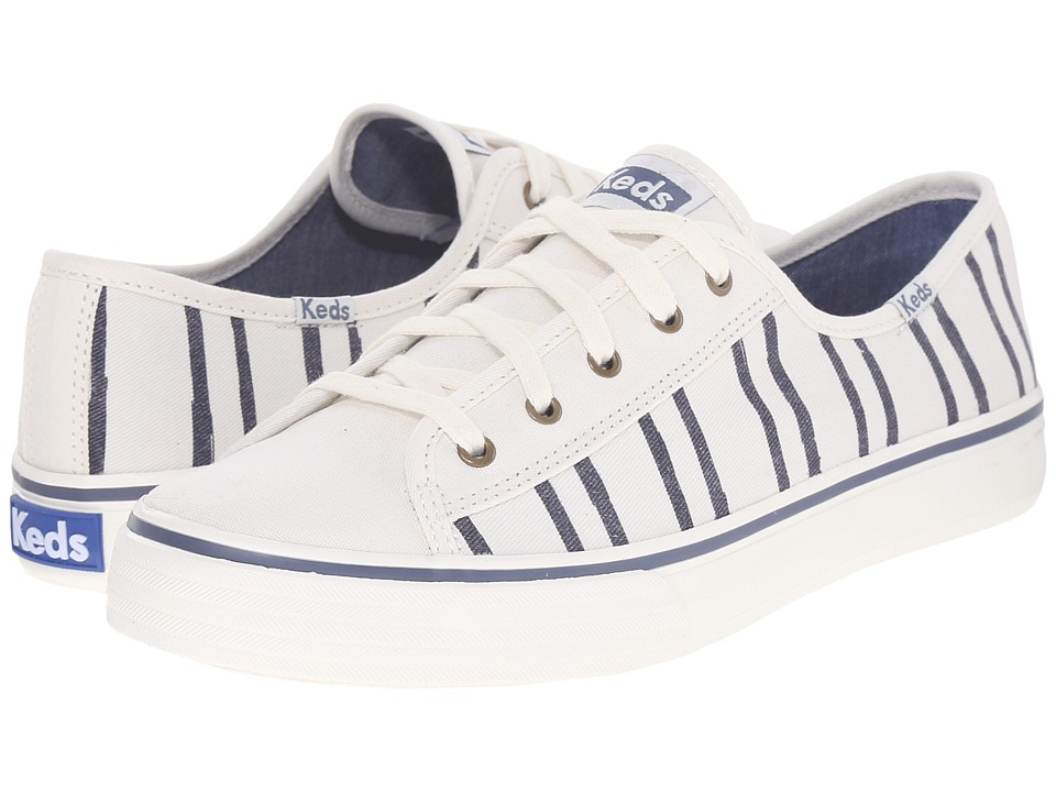 Keds - Double Up Washed Stripe (Off-White) Women