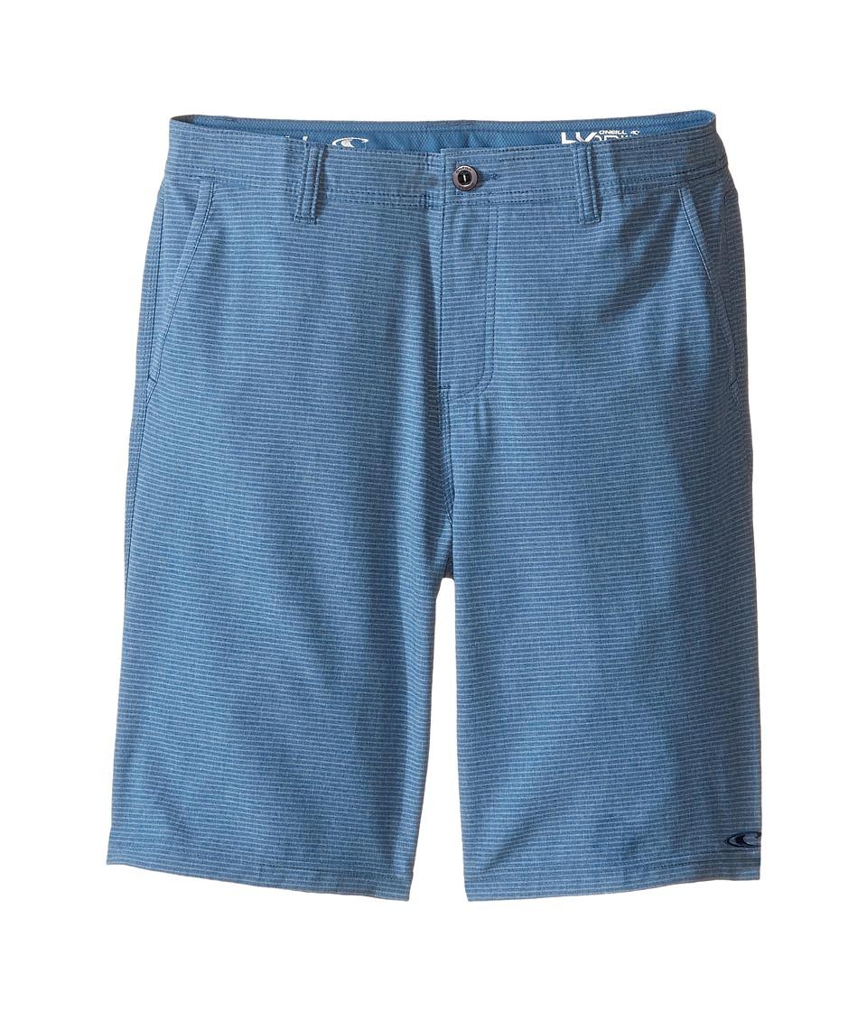 O'Neill Kids - Locked Stripe Boardshorts (Big Kids) (Blue) Boy's Swimwear