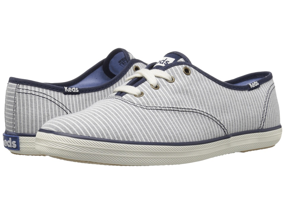 Keds - Champion Chambray Stripe (Navy) Women's Shoes