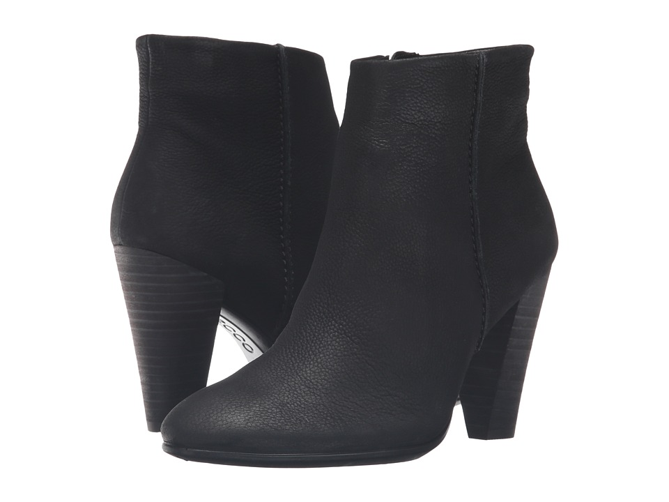 ECCO Shape 75 Bootie (Black Cow Nubuck) Women