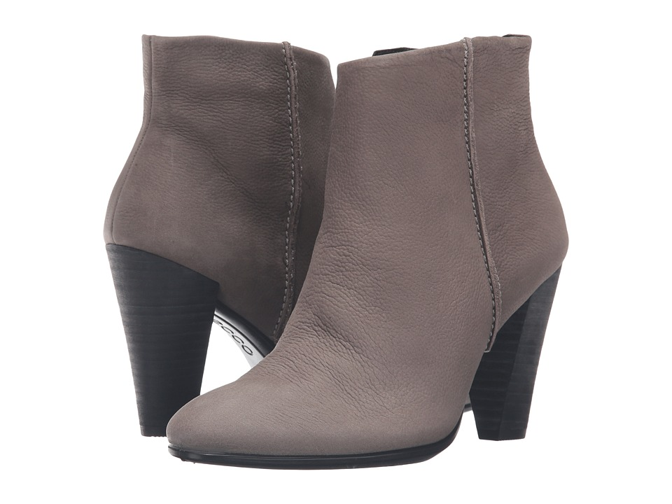 ECCO - Shape 75 Bootie (Warm Grey Cow Nubuck) Women's Boots