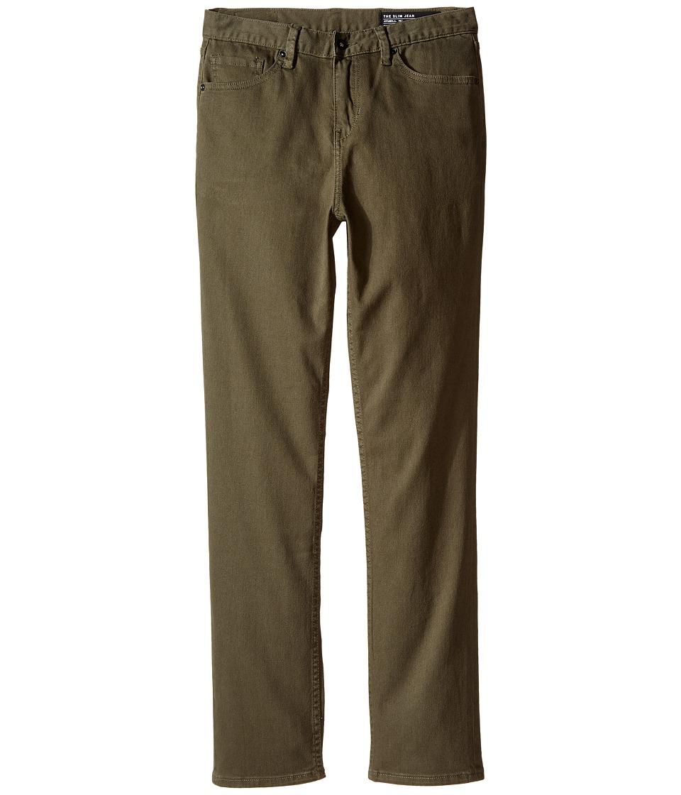 O'Neill Kids - The Slim Twill Pants (Big Kids) (Olive) Boy's Casual Pants