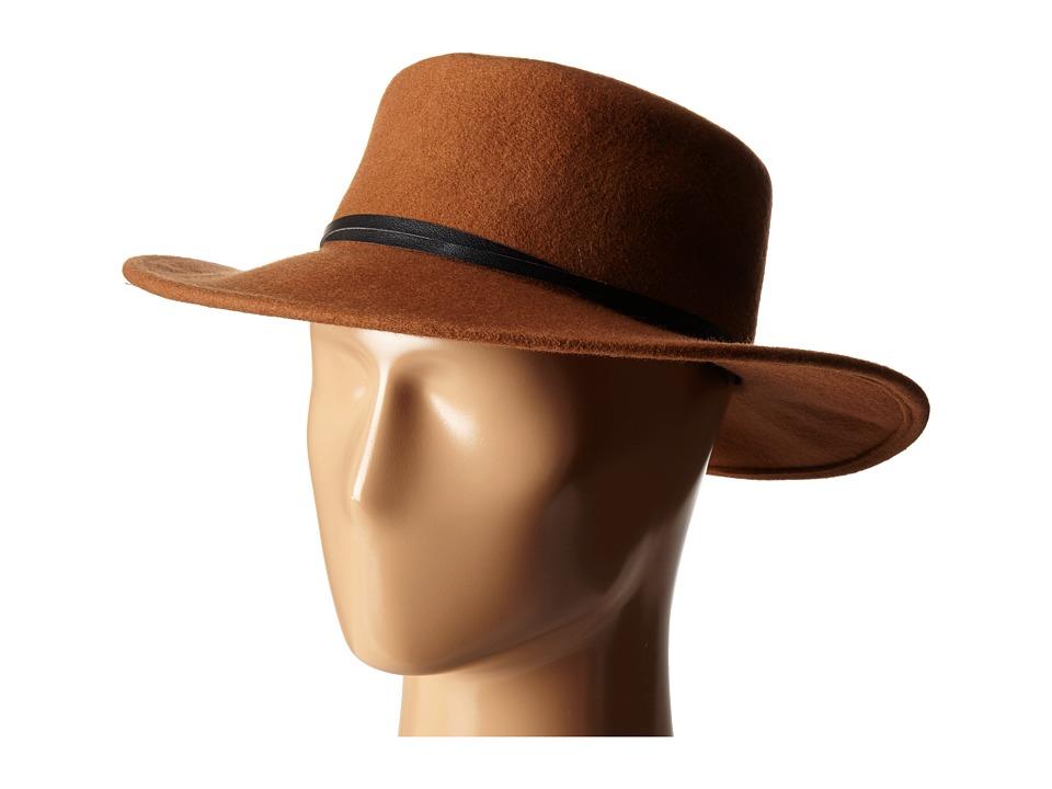 BCBGeneration - Felt Gaucho Hat (Cognac) Cowboy Hats