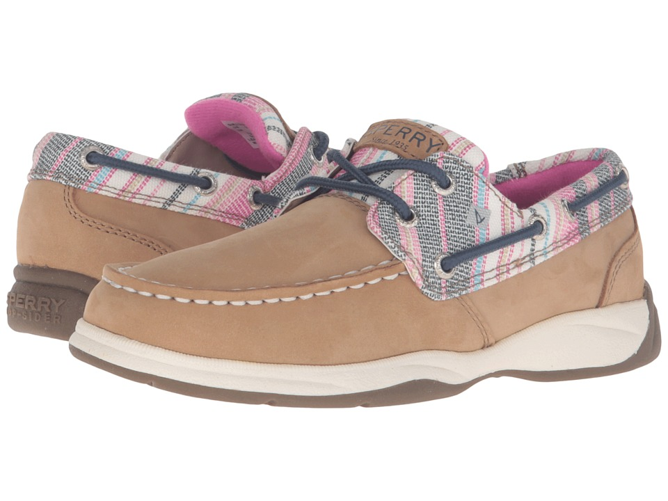 Sperry Top-Sider Kids - Intrepid (Little Kid/Big Kid) (Fuchsia Beach Stripe) Girl