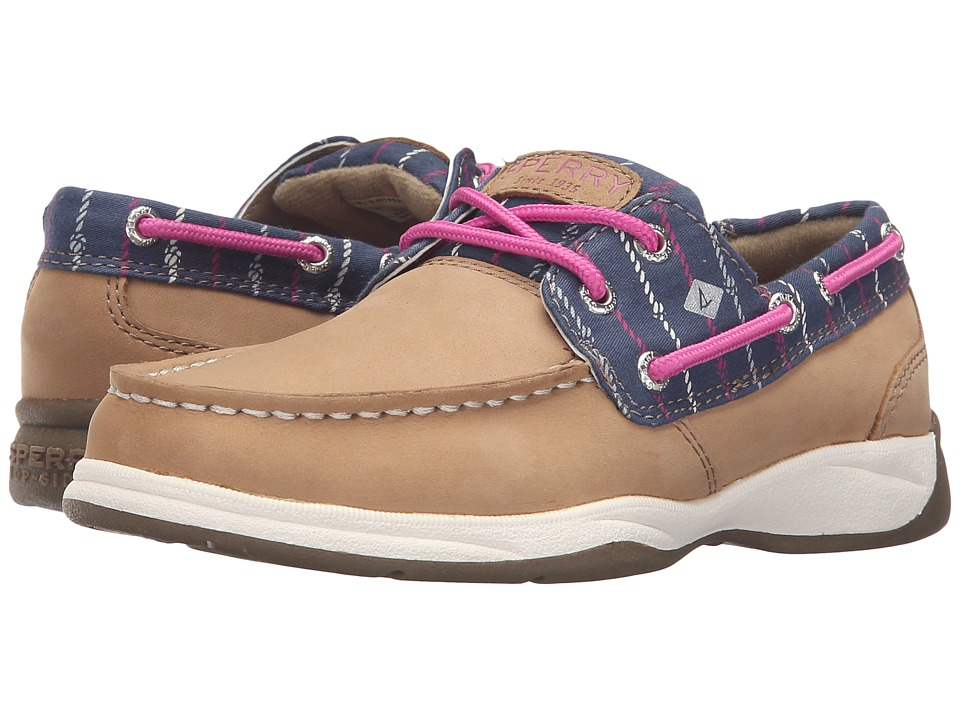Sperry Top-Sider Kids - Intrepid (Little Kid/Big Kid) (Linen/Navy Rope) Girl