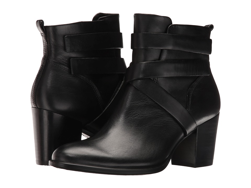 ECCO - Shape 55 Ankle Boot (Black/Black Cow Leather/Cow Nubuck) Women's Boots