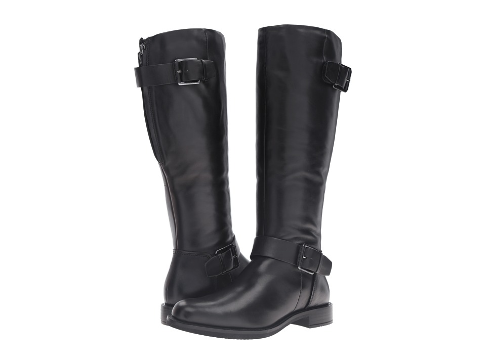 ECCO - Shape 25 Tall Boot (Black Cow Leather) Women's Boots