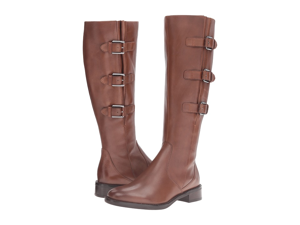 ECCO - Hobart Buckle 25 MM Boot (Cognac Calf Leather) Women's Zip Boots