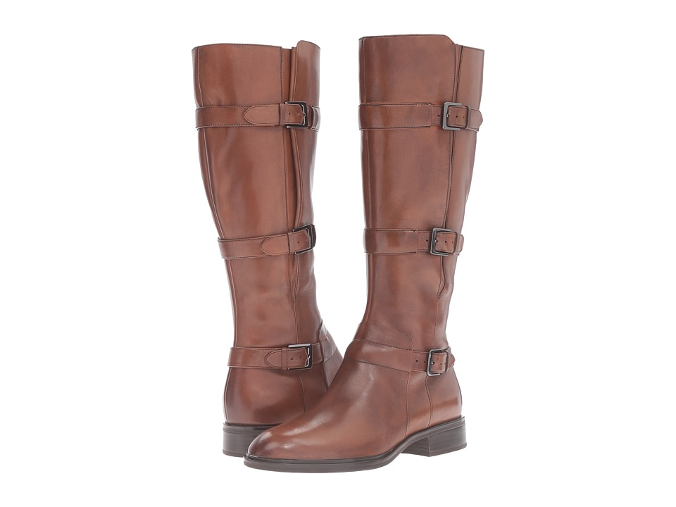 ECCO - Chelsea 20 Tall Boot (Cognac Calf Leather) Women's Boots