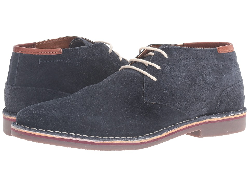 Kenneth Cole Unlisted - Real Deal (Navy) Men's Dress Lace-up Boots