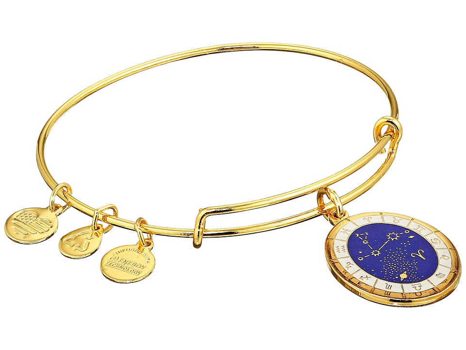 Alex and Ani - Celestial Wheel Aries Constellation Bangle (Yellow Gold) Bracelet