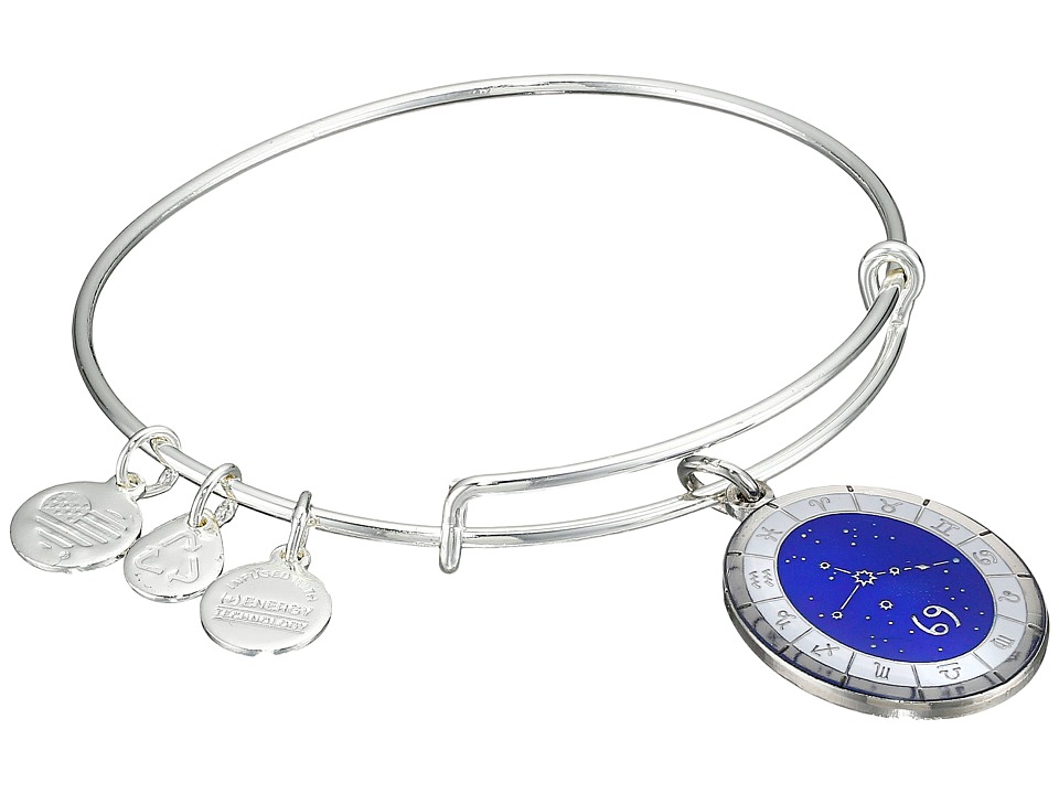 Alex and Ani - Celestial Wheel Cancer Constellation Bangle (Shiny Silver) Bracelet