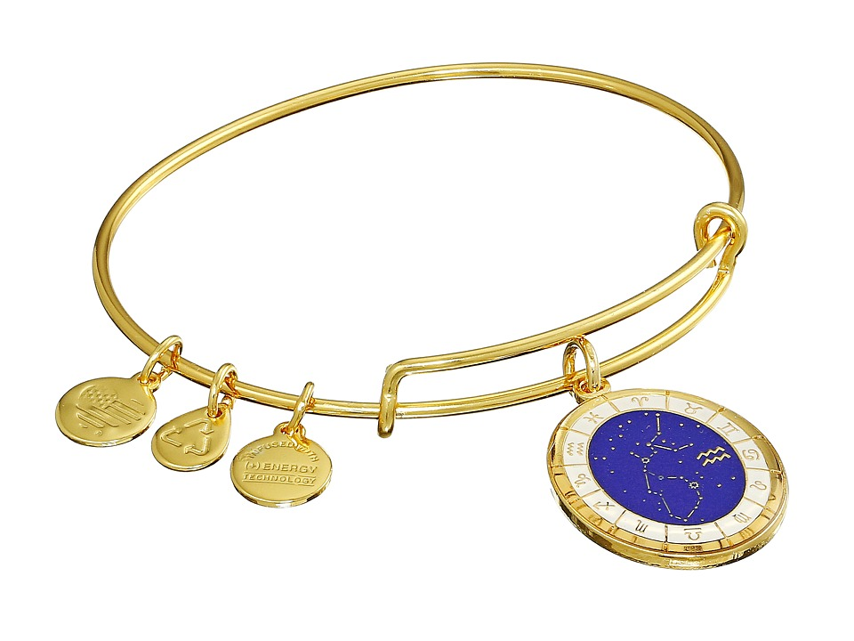 Alex and Ani - Celestial Wheel Aquarius Constellation Bangle (Yellow Gold) Bracelet