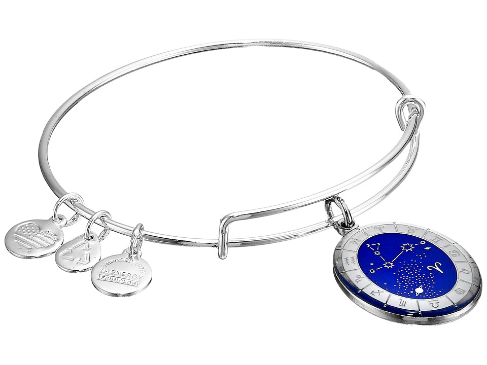 Alex and Ani - Celestial Wheel Aries Constellation Bangle (Shiny Silver) Bracelet