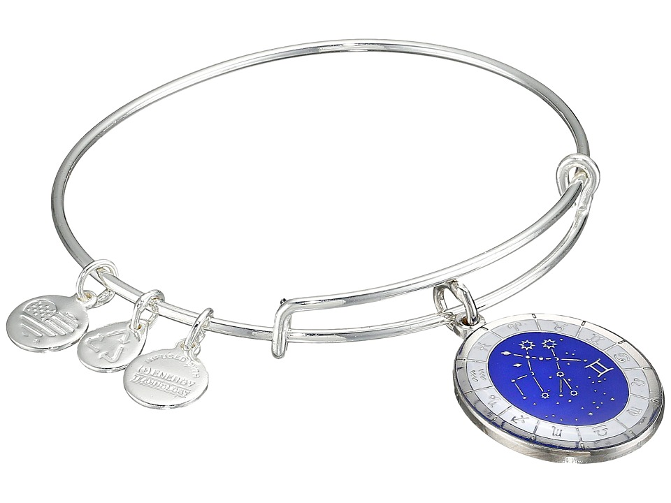 Alex and Ani - Celestial Wheel Gemini Constellation Bangle (Shiny Silver) Bracelet