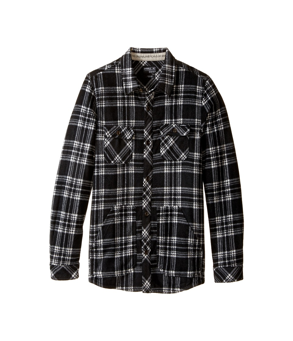 O'Neill Kids - Glacier Check Long Sleeve Shirt (Big Kids) (Black) Boy's Long Sleeve Button Up