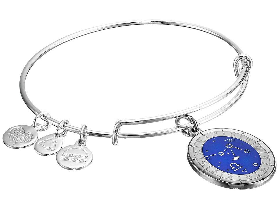 Alex and Ani - Celestial Wheel Libra Constellation Bangle (Shiny Silver) Bracelet