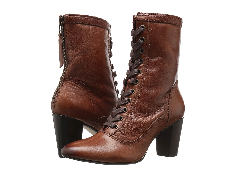 Johnston & Murphy - Adaline Bootie (Whiskey Italian Washed Leather) Women's Lace-up Boots