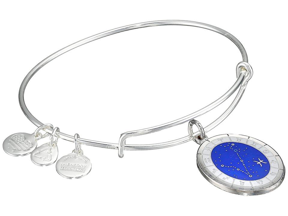Alex and Ani - Celestial Wheels Pisces Constellation Bangle (Shiny Silver) Bracelet