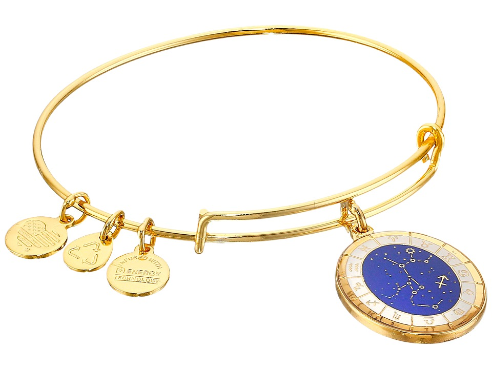Alex and Ani - Celestial Wheel Sagittarius Constellation Bangle (Yellow Gold) Bracelet