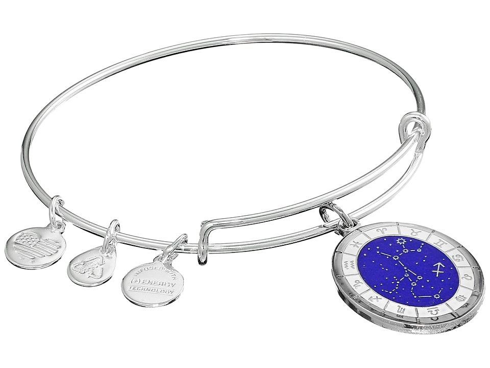 Alex and Ani - Celestial Wheel Sagittarius Constellation Bangle (Shiny Silver) Bracelet