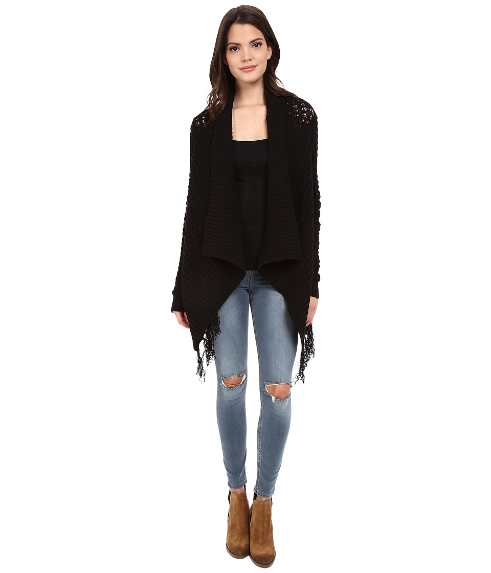 Blank NYC - Fringe Cardigan (Black) Women's Sweater