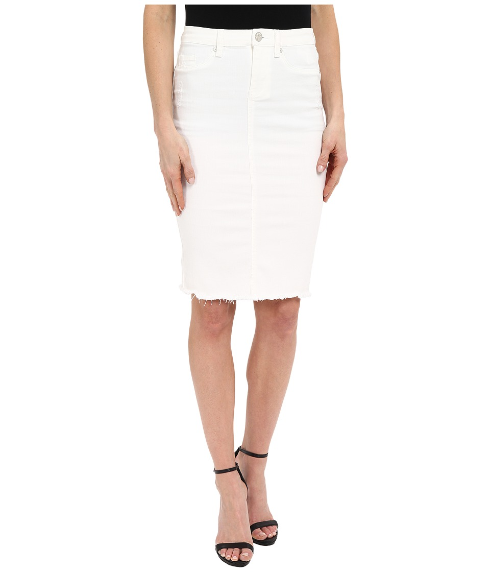 Blank NYC - Released Hem Pencil Skirt (White) Women's Skirt