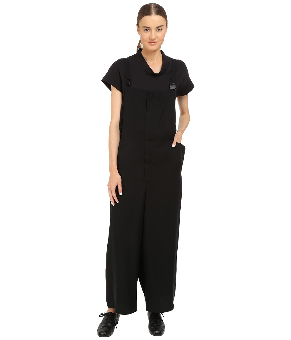 adidas Y-3 by Yohji Yamamoto - Tencel Suspender Pants (Black) Women's Jumpsuit & Rompers One Piece