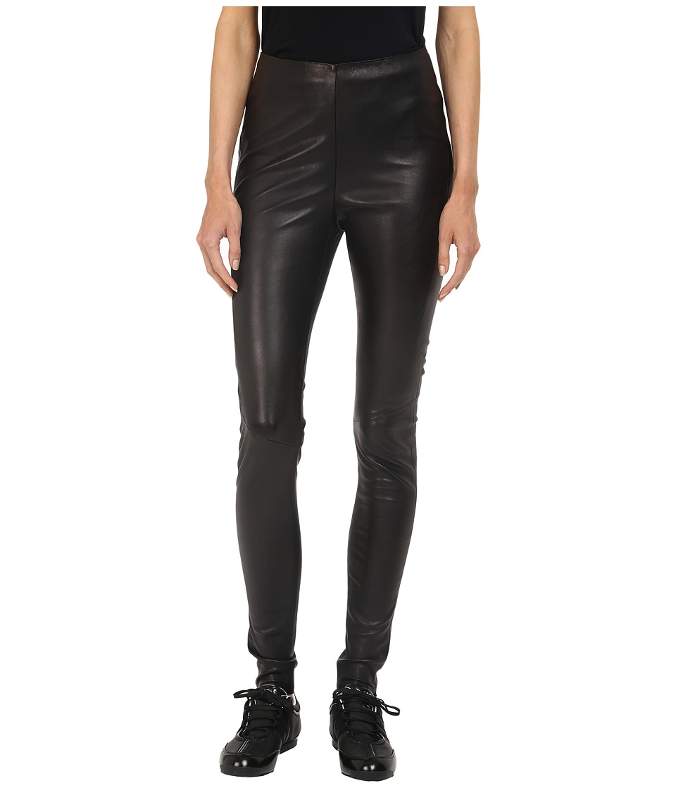 adidas Y-3 by Yohji Yamamoto - Stretch Leather Leggings (Black) Women's Casual Pants