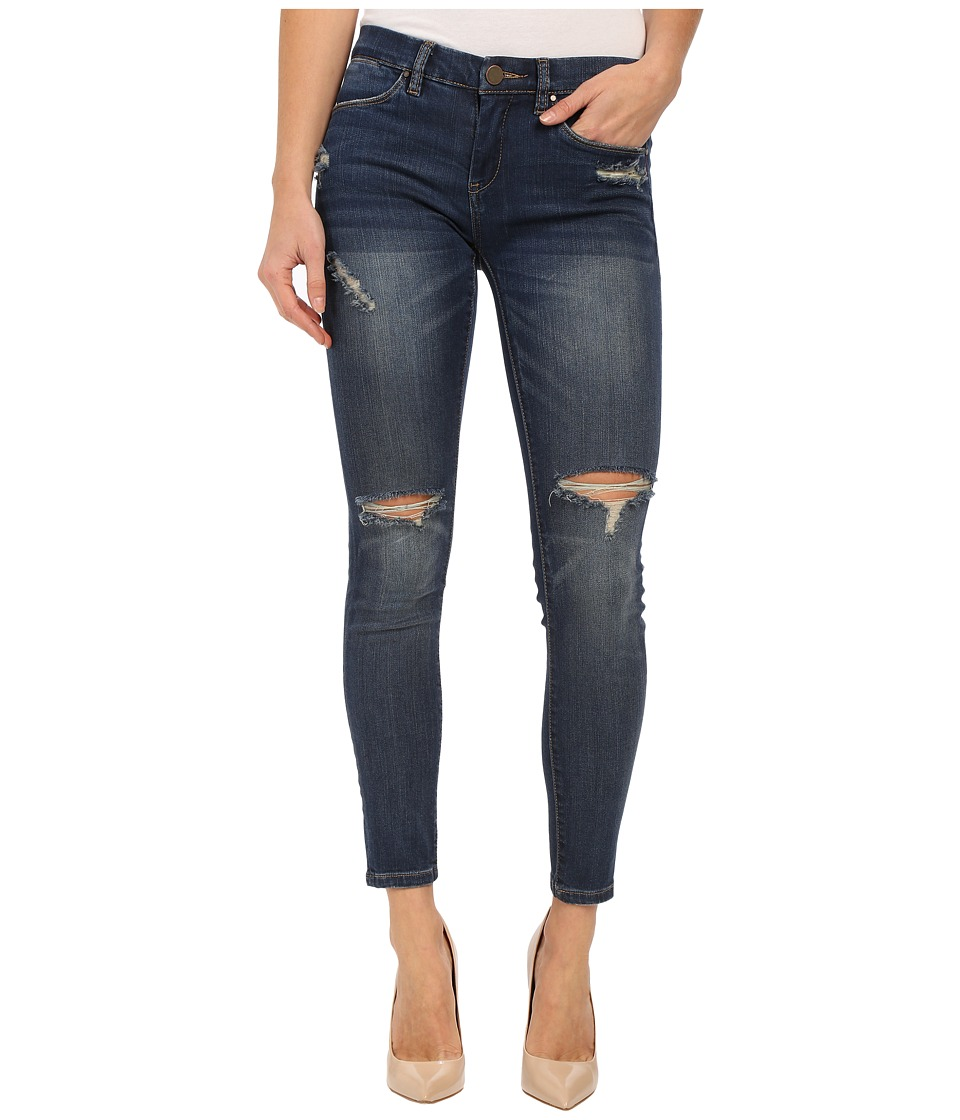 Blank NYC - Denim Crop Ripped Knee Skinny Jeans in Blue (Blue) Women's Jeans
