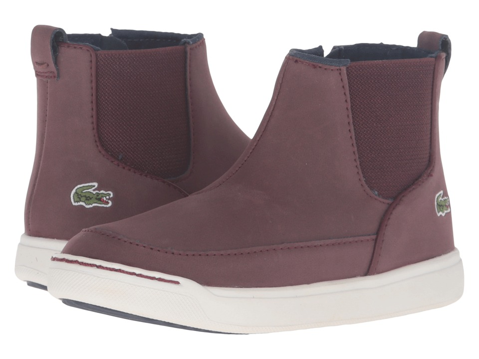 Lacoste Kids - Explorateur Chelsea 316 3 CAI (Toddler/Little Kid) (Dark Brown) Kid's Shoes