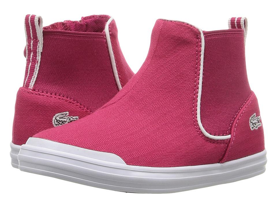Lacoste Kids Lancelle Chelsea 316 1 SPI (Toddler/Little Kid) (Dark Pink) Girl