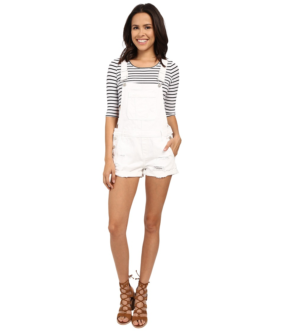 Blank NYC - Short Overalls (White) Women's Overalls One Piece
