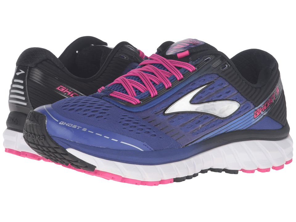 Brooks - Ghost 9 (Clematis Blue/Black/Pink Glow) Women's Running Shoes