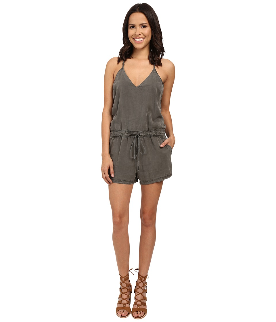 Blank NYC - Short Romper (Olive Green) Women's Jumpsuit & Rompers One Piece