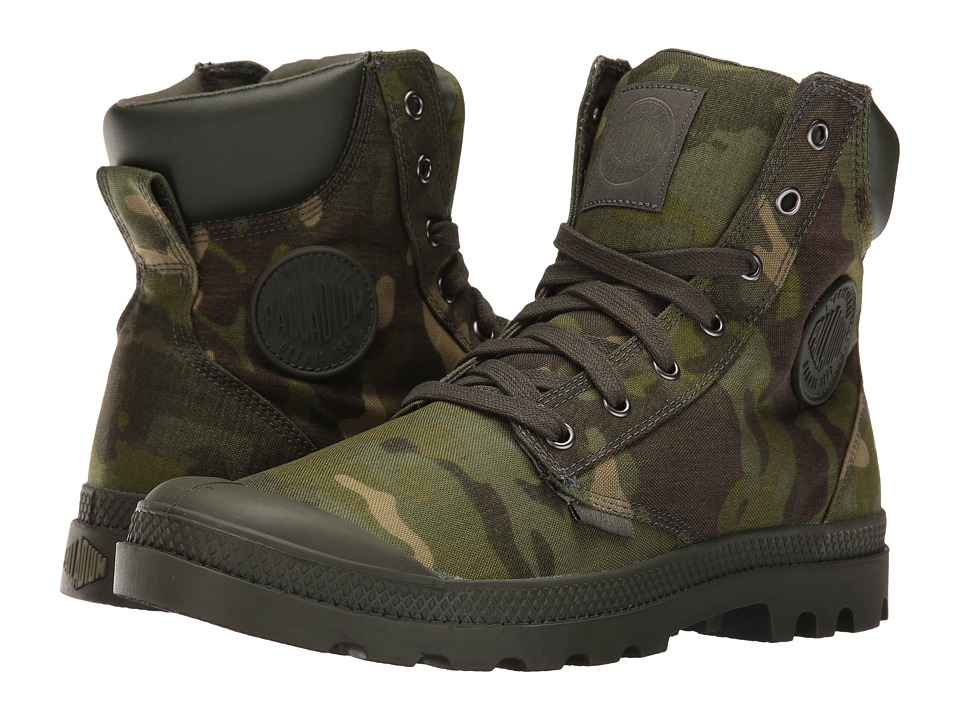 Palladium - Pampa Sport Cuff MC (Tropic Camo) Lace up casual Shoes