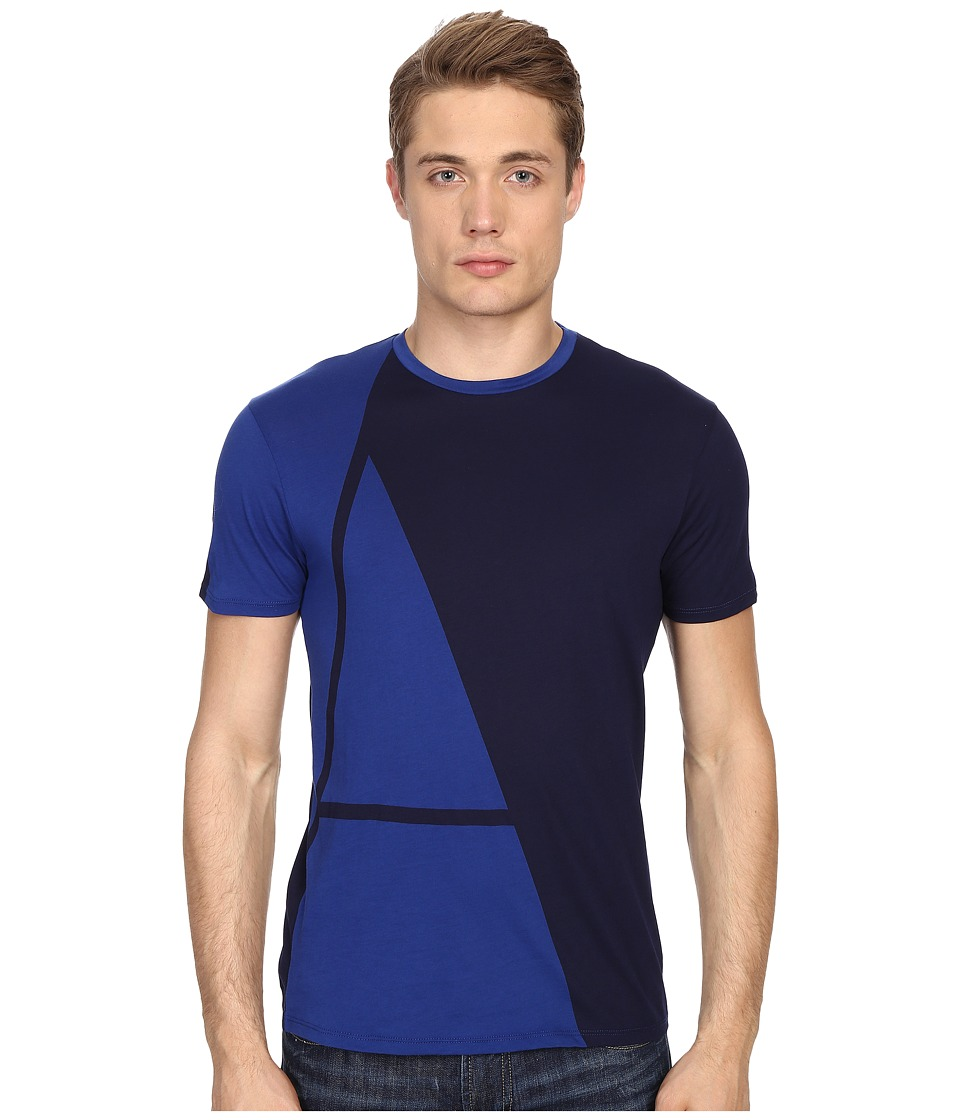 Armani Jeans - Large A Printed Tee (Blue) Men's T Shirt