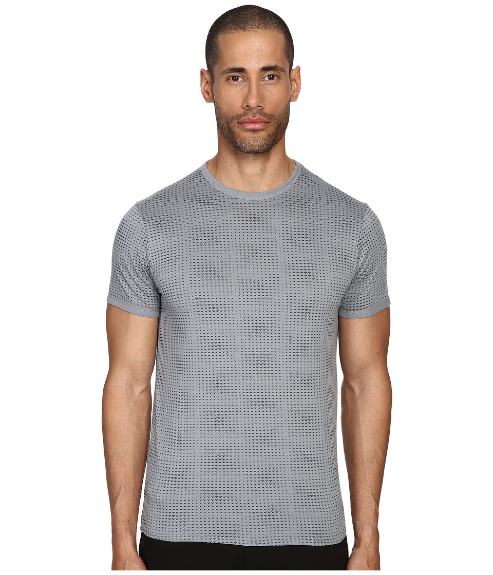 Armani Jeans - All Over Printed Tee (Gray) Men's T Shirt