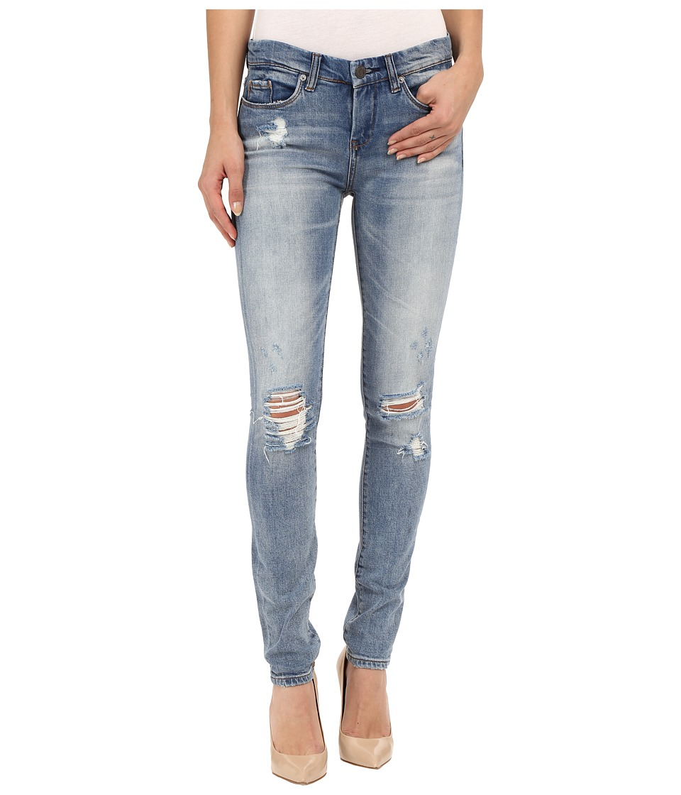 Blank NYC - Denim Distressed Skinny Jeans in Denim Blue (Denim Blue) Women's Jeans