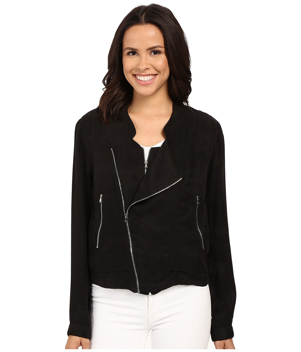 Blank NYC - Silk Zipper Detail Jacket (Black) Women's Jacket
