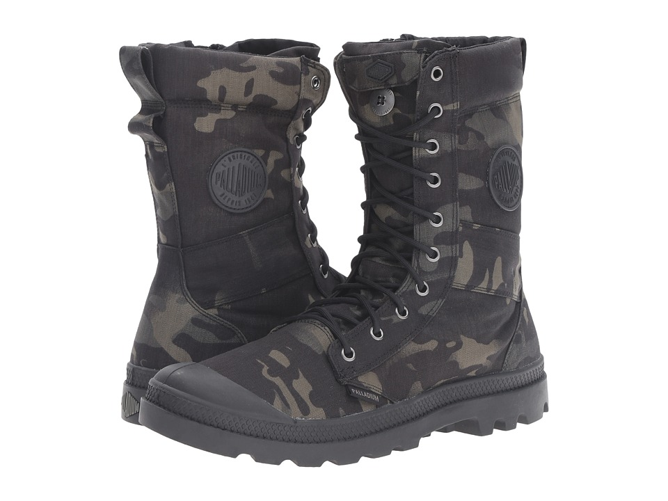 Palladium - Tactical Multicam (Black Camo) Lace up casual Shoes