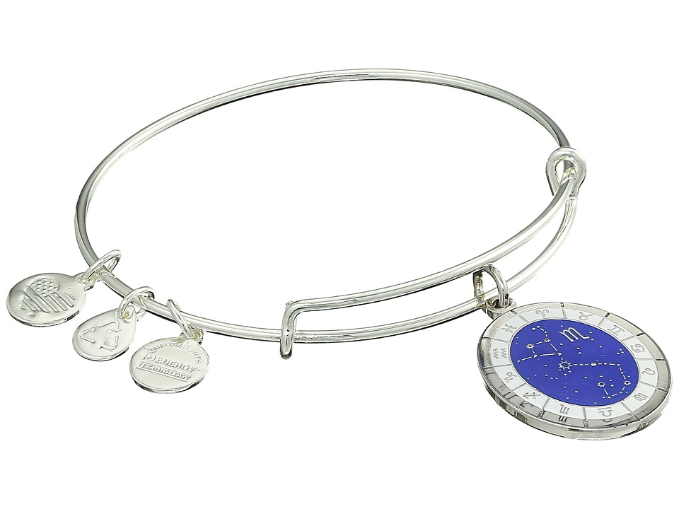 Alex and Ani - Celestial Wheel Scorpio Constellation Bangle (Shiny Silver) Bracelet