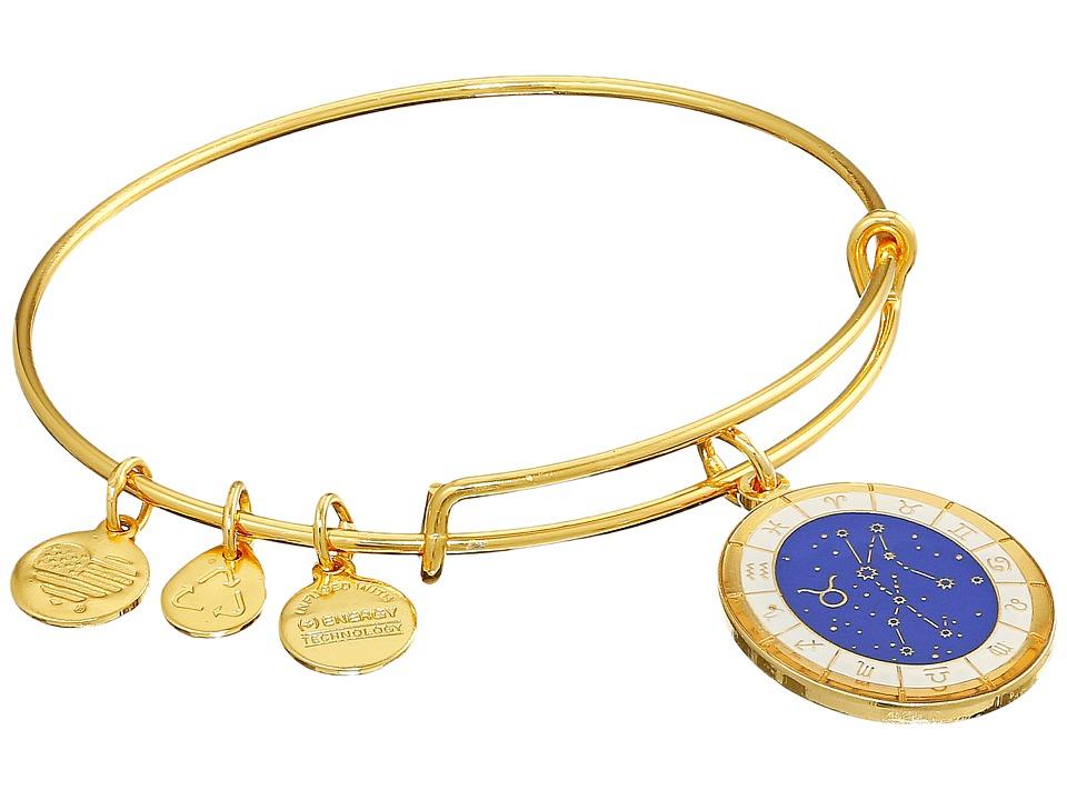 Alex and Ani - Celestial Wheel Taurus Constellation Bangle (Yellow Gold) Bracelet