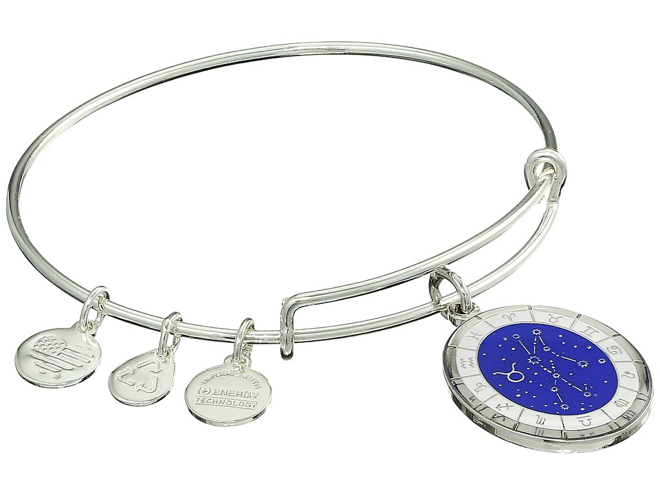 Alex and Ani - Celestial Wheel Taurus Constellation Bangle (Shiny Silver) Bracelet
