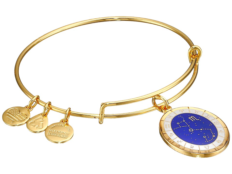 Alex and Ani - Celestial Wheel Scorpio Constellation Bangle (Yellow Gold) Bracelet
