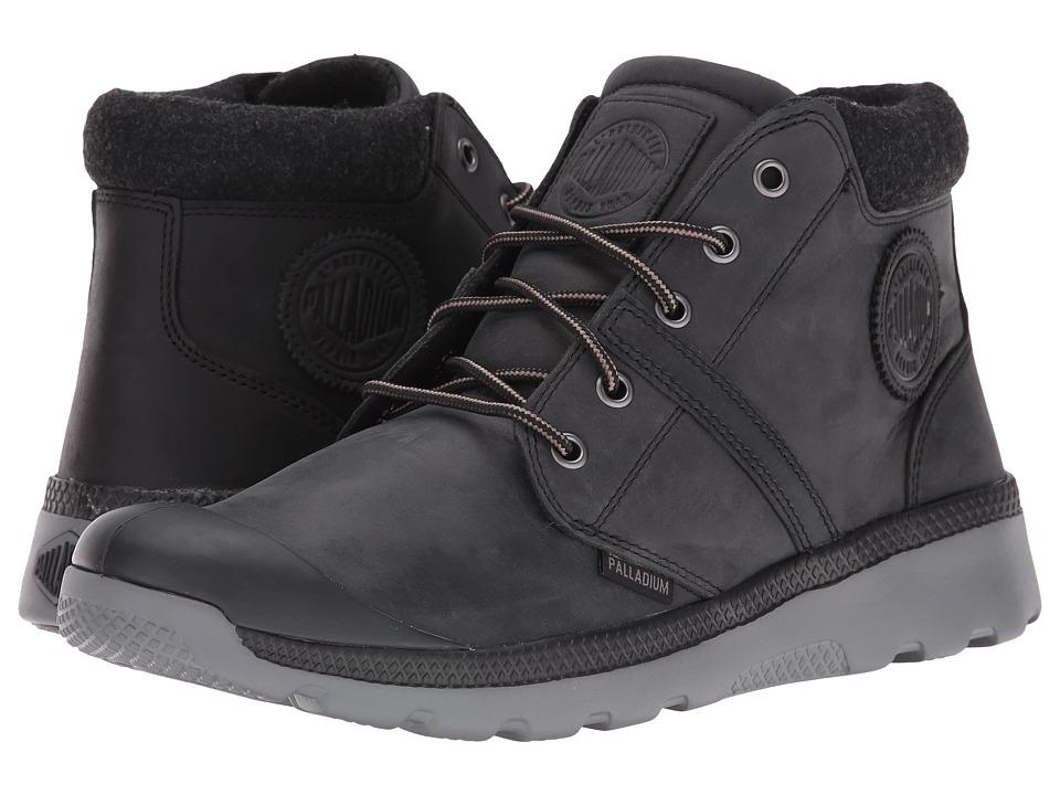 Palladium - Pallaville HI Cuff L (Black/Metal) Men's Lace up casual Shoes