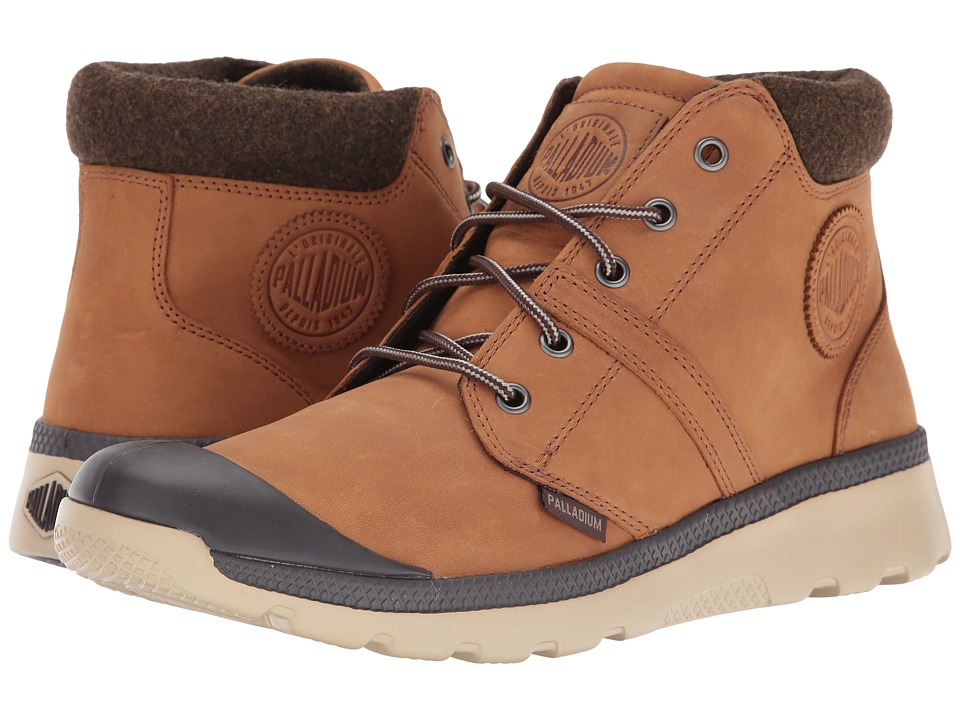 Palladium - Pallaville HI Cuff L (Mahogony/Safari) Men's Lace up casual Shoes