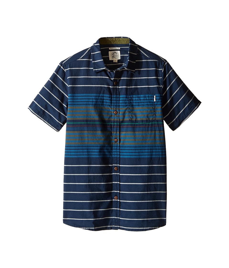 O'Neill Kids - Tandy Short Sleeve Shirt (Big Kids) (Navy) Boy's Short Sleeve Button Up