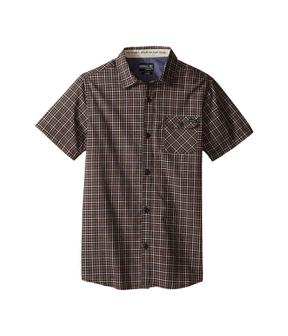 O'Neill Kids - Emporium Check Short Sleeve Shirt (Big Kids) (Rust) Boy's Short Sleeve Button Up